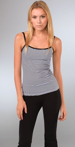 So Low Striped Yoga Camisole With Shelf B