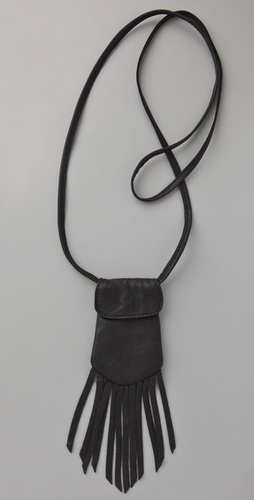 Something Else Fringe Pouch Necklace