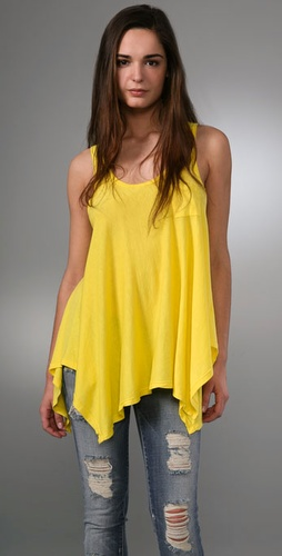 Splendid Jersey Tank with Zipper