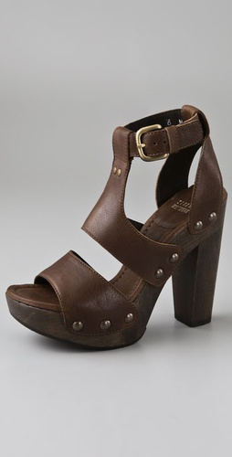 Stuart Weitzman Apron Gladiator Clog Sandals from shopbop.com