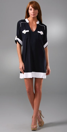 T-Bags V Neck Pocket Dress