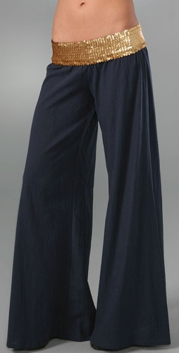 T-bags Wide Leg Pants With Sequins