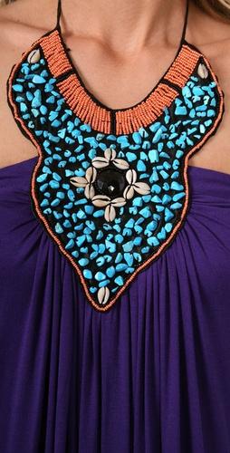 T-Bags Necklace Long Dress