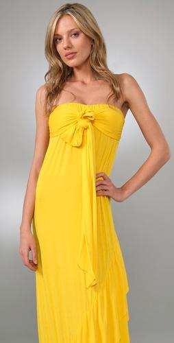 T-Bags Tie Front Long Dress