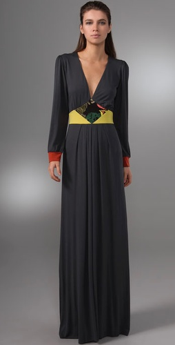 T-Bags Long Sleeve Maxi Dress
