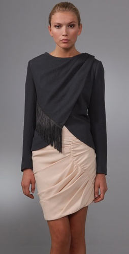 Thakoon Wrap Fringe Jacket