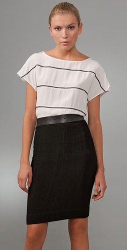 Thakoon Embroidered Stripe Tee