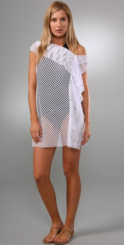 Thayer Ruffle Front Net Cover Up