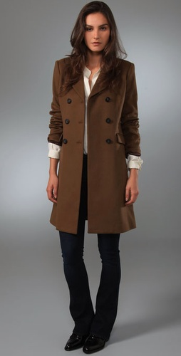 Theory Ellery Double Breasted Coat
