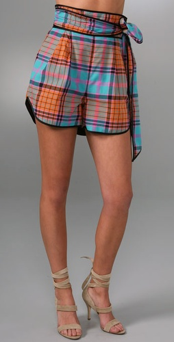 Thread Social Madras Plaid Shorts from shopbop.com