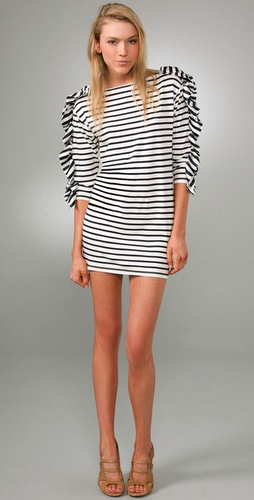 Thread Social Boat Neck Striped Dress