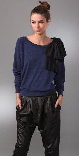 Thread Social Sweatshirt With Bow Detail