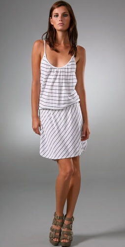 Three Dots Stripe Tank Dress