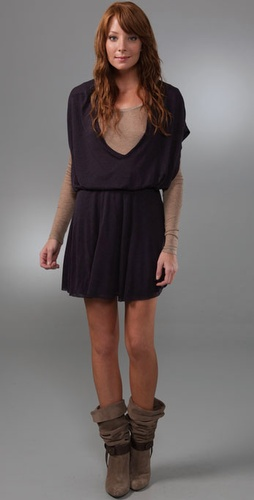 Three Dots Double Layer Dress