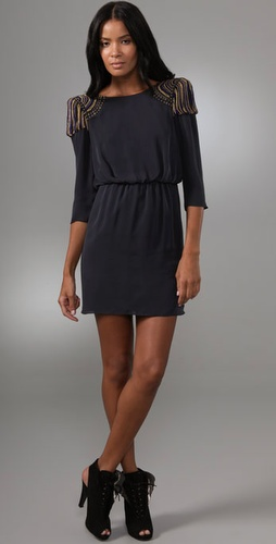 Tibi Nile Beaded Short Dress