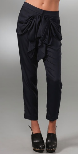 Tibi Draped Bow Pants