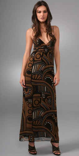 Torn By Ronny Kobo Kale Long Dress