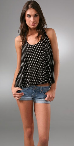 Torn By Ronny Kobo Tracy Polka Dot Tank