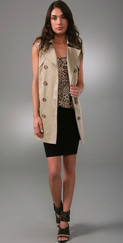 Torn By Ronny Kobo Alana Trench Coat