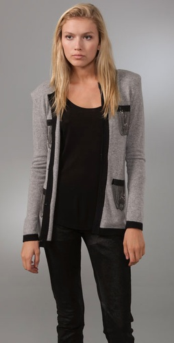 Torn By Ronny Kobo Coco Chains Cardigan