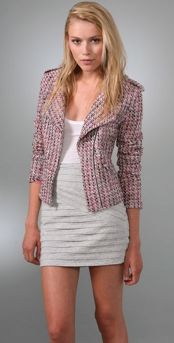 Torn By Ronny Kobo Juliet Tweed Biker Jac