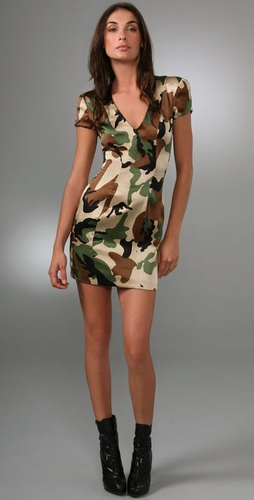 Torn By Ronny Kobo Dani Army Dress