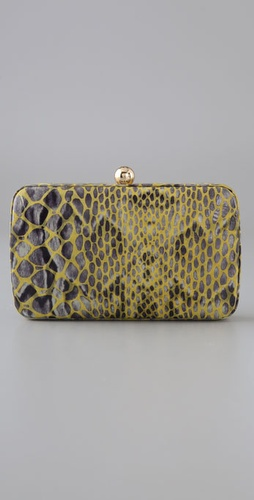 Tory Burch Pop Python Minaudiere Clutch