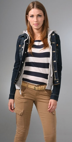 True Religion Jimmy Hooded Denim Jacket
