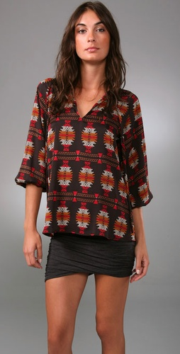 Tucker Long Tie Neck Blouse