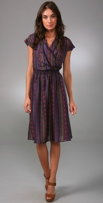 Tucker Cross Front Flowy Dress