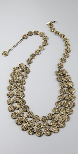 Tuleste Market Antique Coin Tiered Neckla