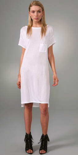 T by Alexander Wang Boat Neck Dress with Mini Pocket