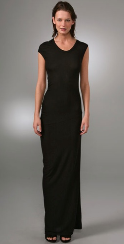 T By Alexander Wang 2x2 Draped Long Dress