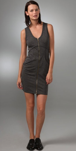 T by Alexander Wang Ponte Zip Dress