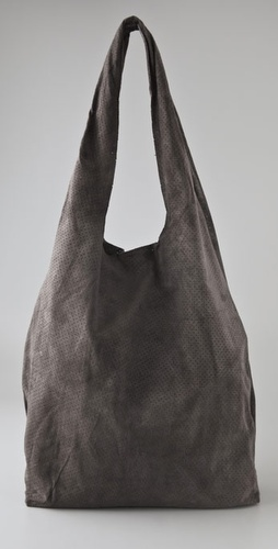 Twelfth St. by Cynthia Vincent Perforated Suede Grocery Bag