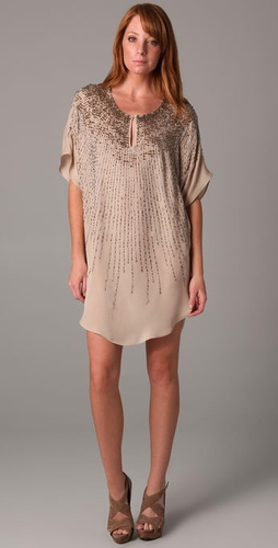 Twelfth St. by Cynthia Vincent Sunburst Beaded Tunic Dress