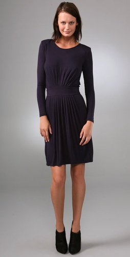 under.ligne by doo.ri Long Sleeve Pleated Dress