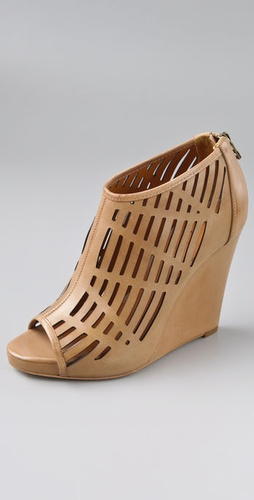 Pour La Victoire Tyra Cutout Wedge Booties