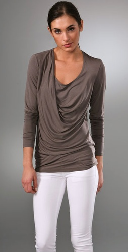 Vince Drape Long Sleeve Top