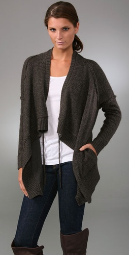 Vince Double Layer Drape Sweater