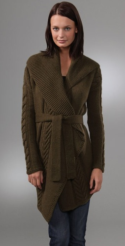 Vince Floating Cable Cardigan