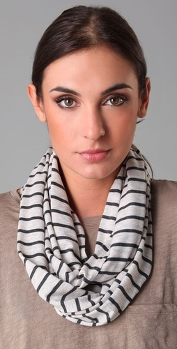 Vince Striped Loop Scarf