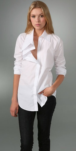 Victorialand Medium Body Shirt With Asymm