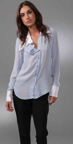 Victorialand Asymmetrical Collar Shirt