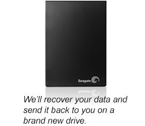 We'll recover your data and send it back to you on a brand new drive.