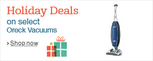 Holiday Deals on Select Oreck Vacuums