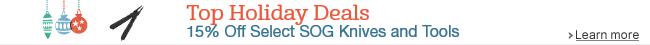 15% Off Select SOG Knives and Tools
