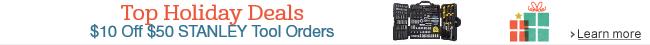 $10 Off Select $50 STANLEY Tool Orders