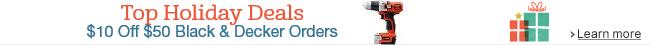$10 Off $50 Black & Decker Orders