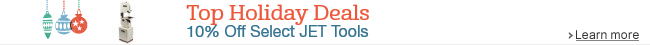 10% Off Select JET Metalworking Tools